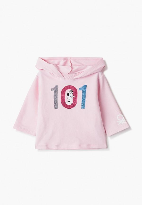 худи united colors of benetton для девочки, розовые