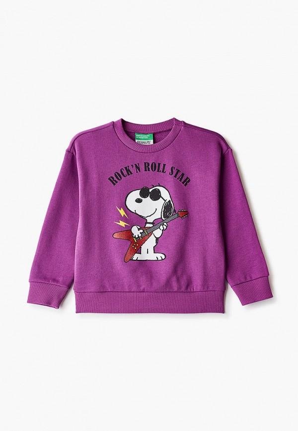 свитшот united colors of benetton для девочки, фиолетовый