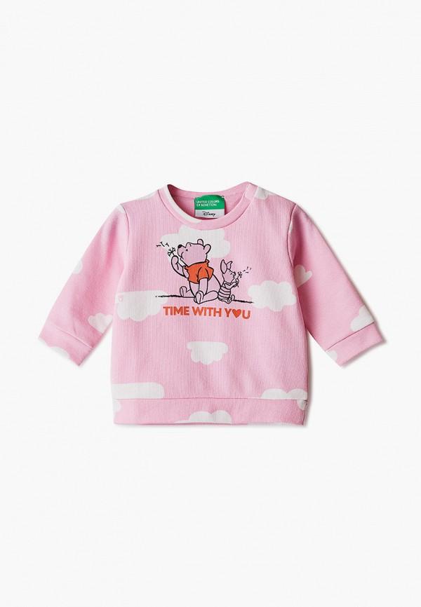 свитшот united colors of benetton для девочки, розовый