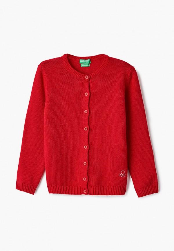 кардиган united colors of benetton для девочки, красный