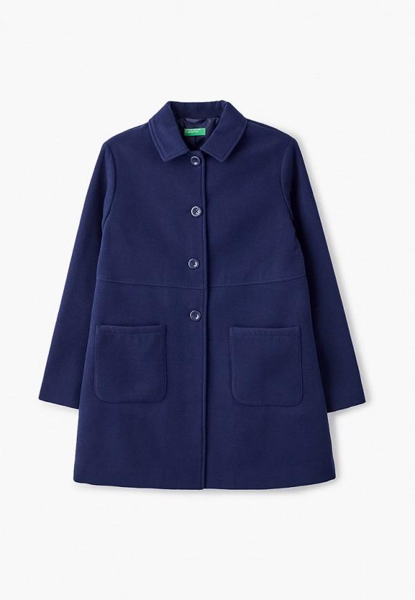 пальто united colors of benetton для девочки, синее