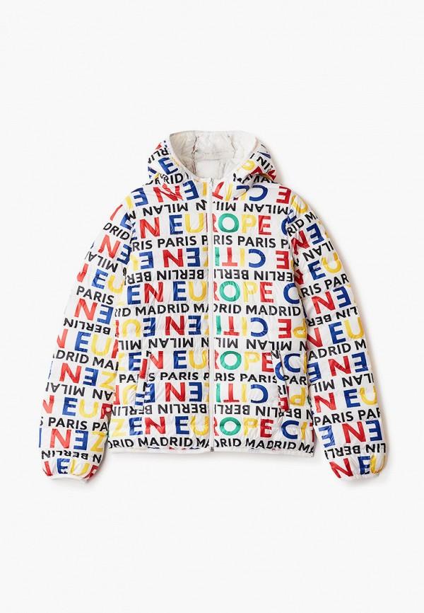 куртка united colors of benetton для девочки, разноцветная
