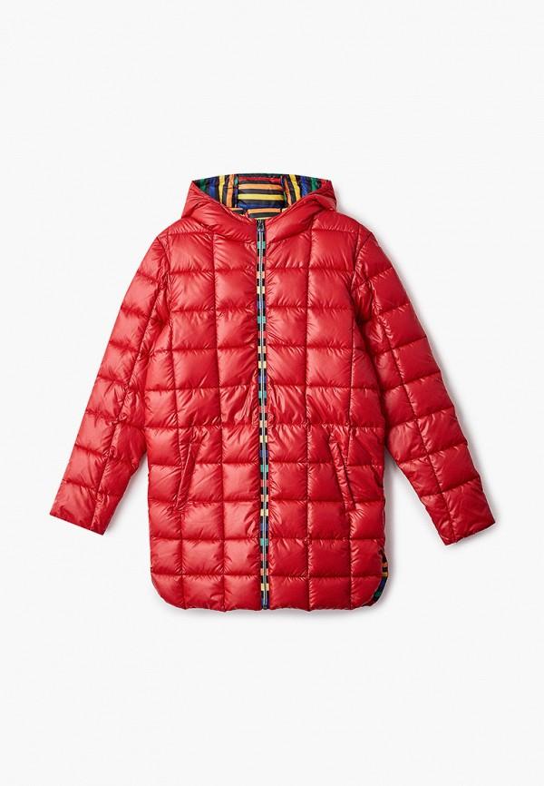 куртка united colors of benetton для девочки, красная