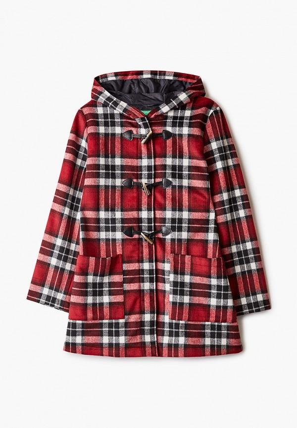 пальто united colors of benetton для девочки, красное