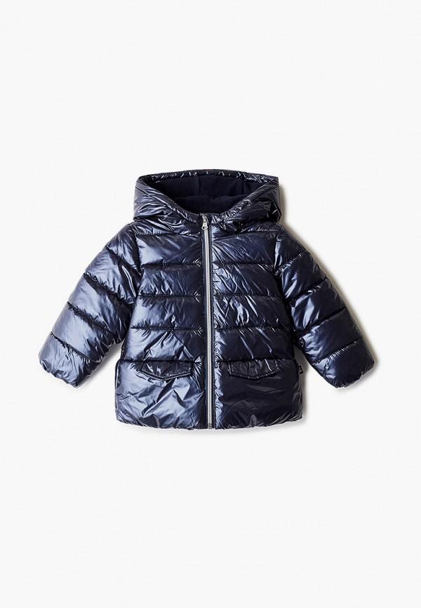 утепленные куртка united colors of benetton для девочки, синяя