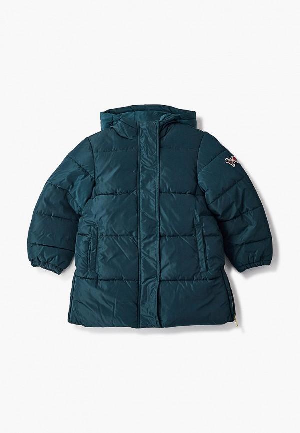 утепленные куртка united colors of benetton для девочки, зеленая