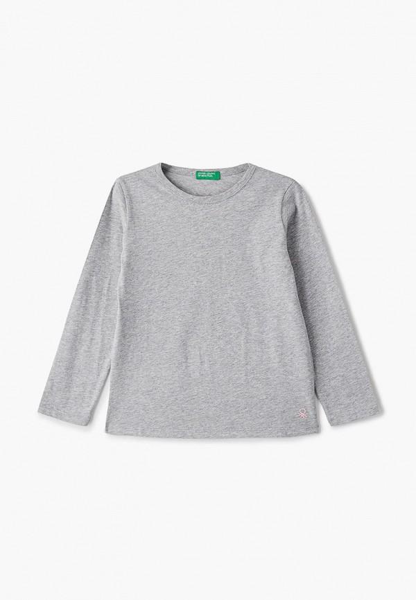 лонгслив united colors of benetton для девочки, серый