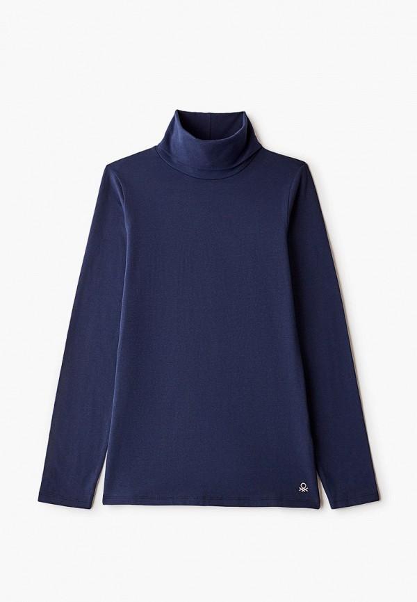 водолазка united colors of benetton для девочки, синяя