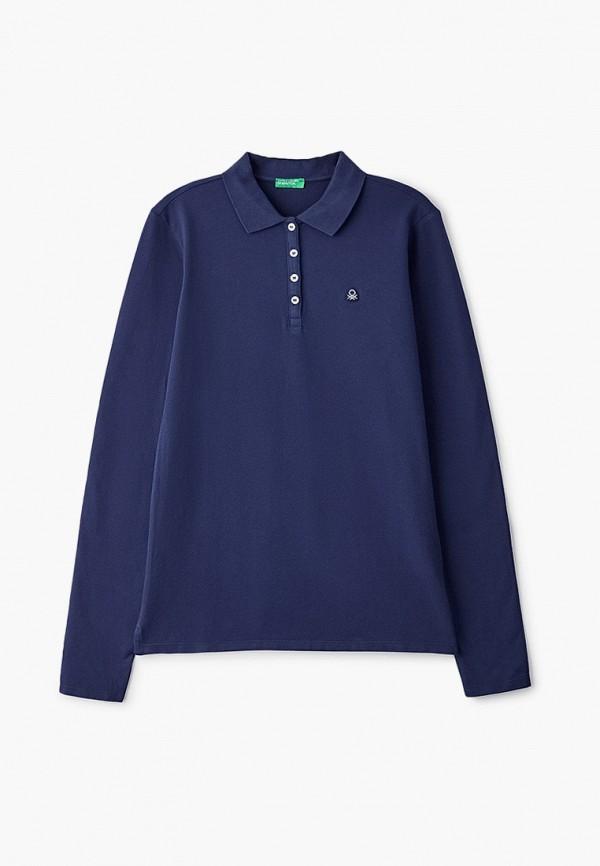поло united colors of benetton для девочки, синее