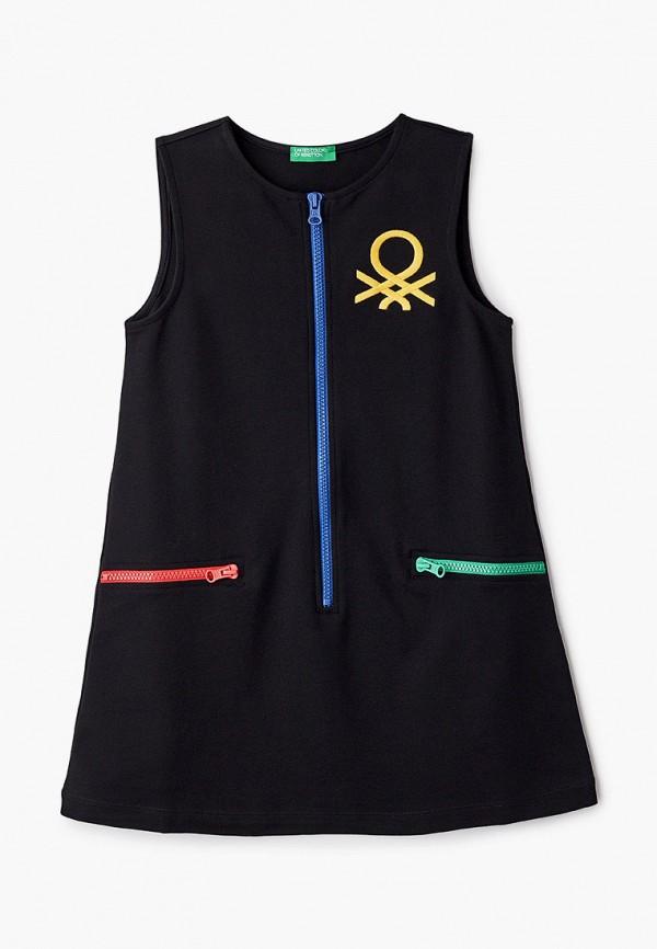 повседневные платье united colors of benetton для девочки, черное