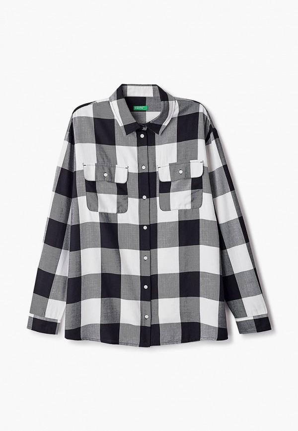 рубашка united colors of benetton для девочки, серая