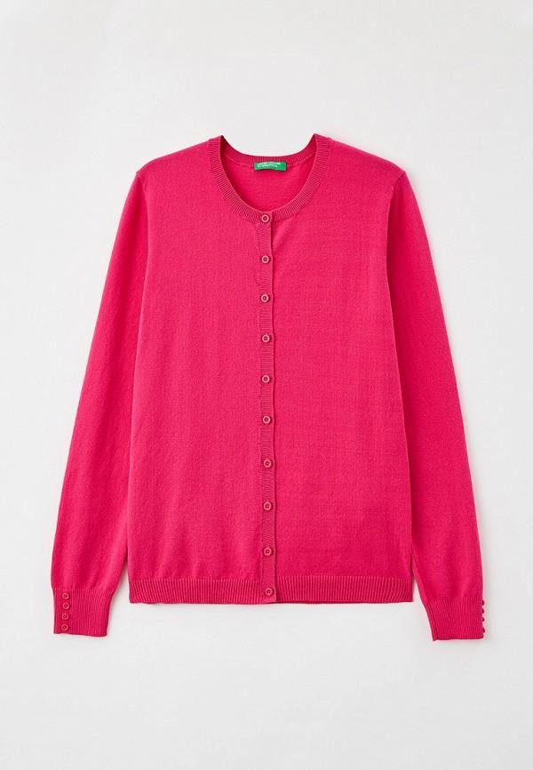 кардиган united colors of benetton для девочки, розовый
