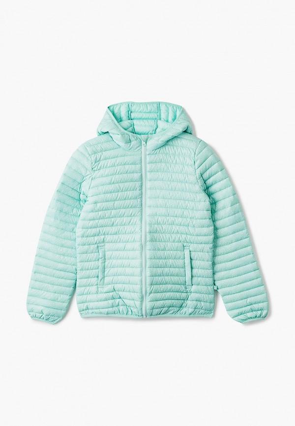 куртка united colors of benetton для девочки, бирюзовая