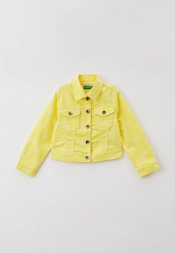куртка united colors of benetton для девочки, желтая