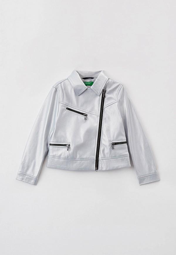 куртка united colors of benetton для девочки, серебряная