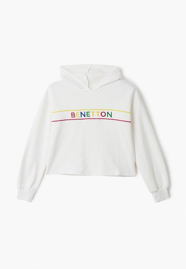 худи united colors of benetton для девочки, белые