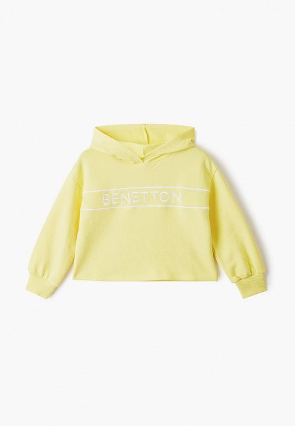 худи united colors of benetton для девочки, желтые