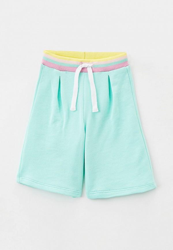 спортивные шорты united colors of benetton для девочки, бирюзовые