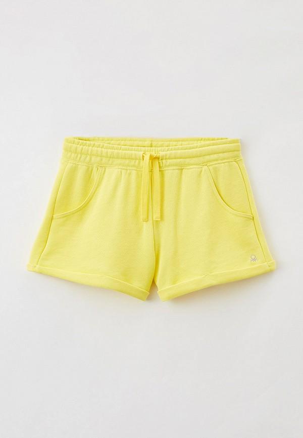 спортивные шорты united colors of benetton для девочки, желтые