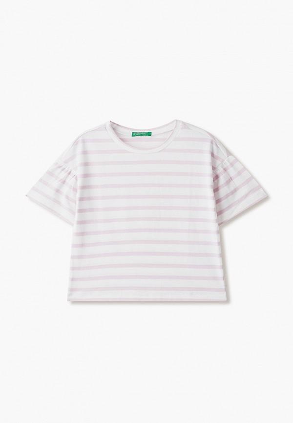 футболка с коротким рукавом united colors of benetton для девочки, фиолетовая