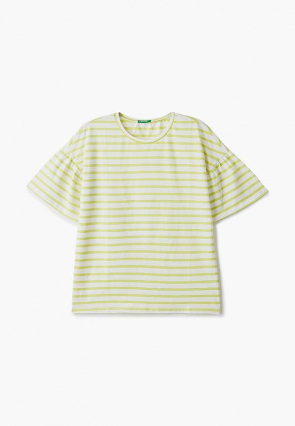 футболка с коротким рукавом united colors of benetton для девочки, желтая