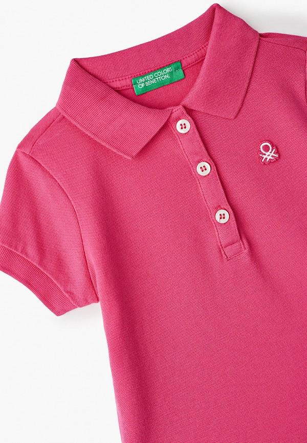 Поло для девочки United Colors of Benetton 3WG9C3092 Фото 3