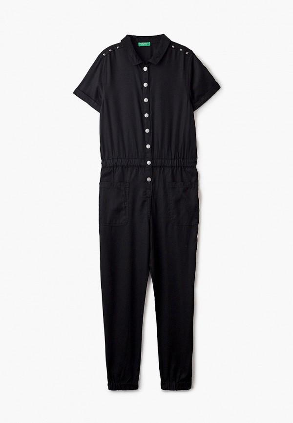 комбинезон с брюками united colors of benetton для девочки, черный