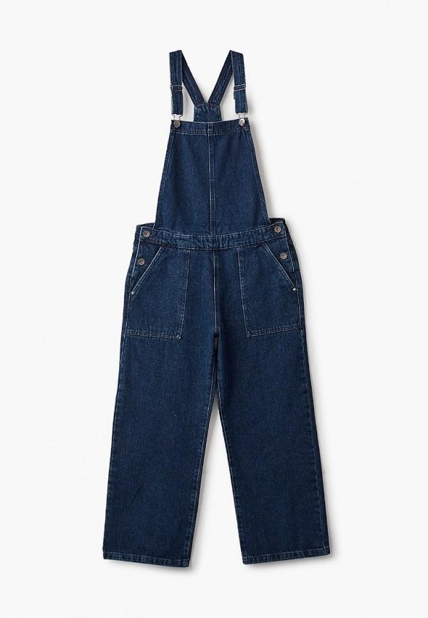 джинсовые комбинезон united colors of benetton для девочки, синий