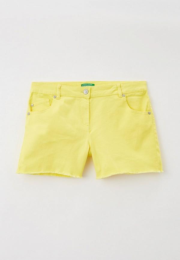 шорты united colors of benetton для девочки, желтые