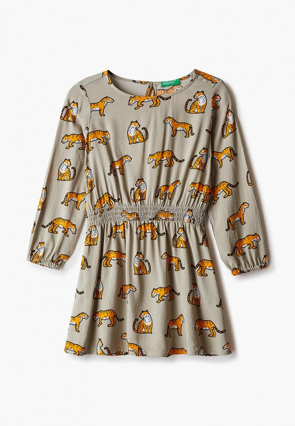 повседневные платье united colors of benetton для девочки, бежевое