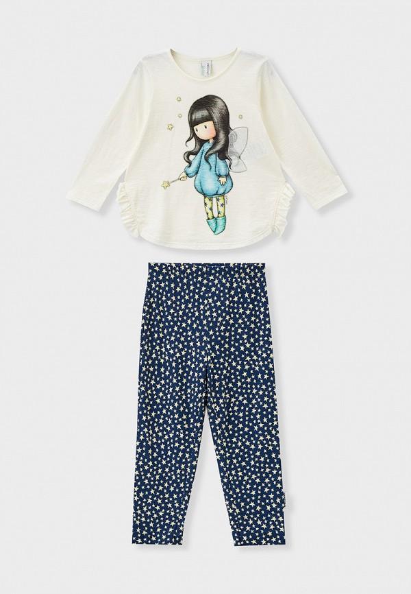 пижама united colors of benetton для девочки, разноцветная