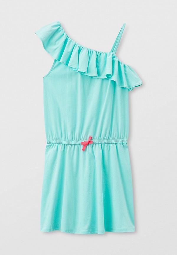 повседневные платье united colors of benetton для девочки, бирюзовое