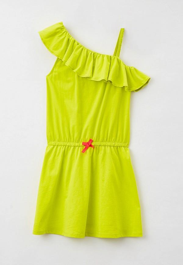 повседневные платье united colors of benetton для девочки, желтое