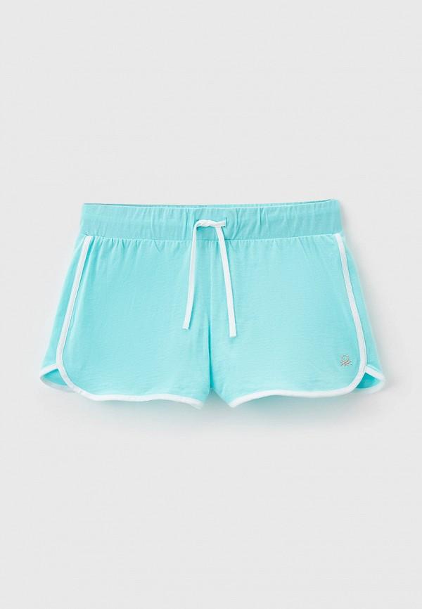 спортивные шорты united colors of benetton для девочки, голубые