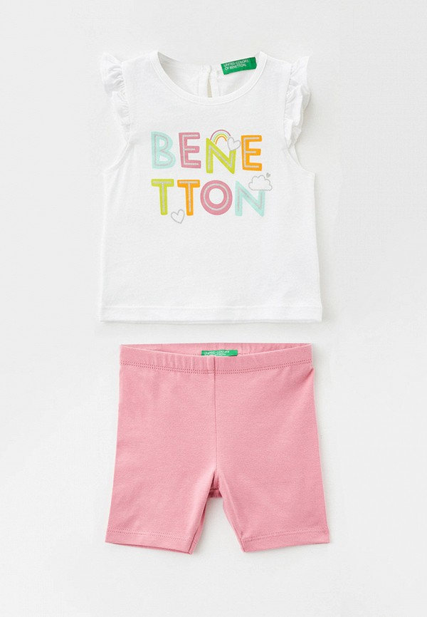 майка united colors of benetton для девочки, разноцветная