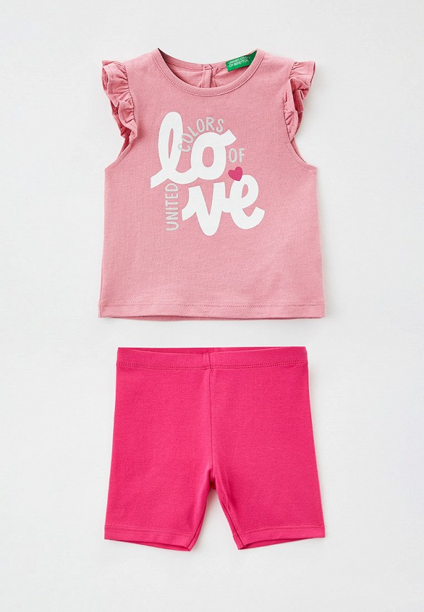 костюм united colors of benetton для девочки, розовый