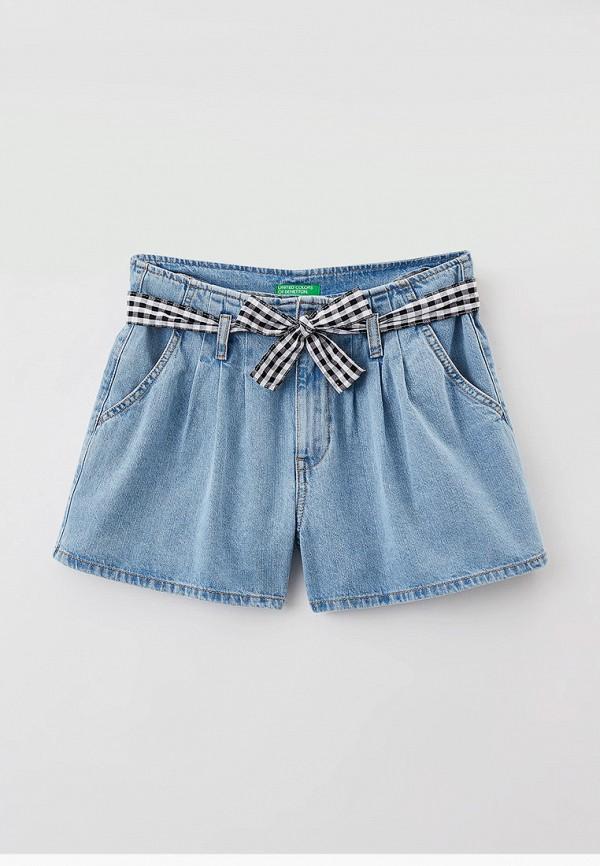 шорты united colors of benetton для девочки, голубые
