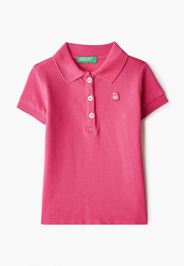 поло united colors of benetton для девочки, розовое