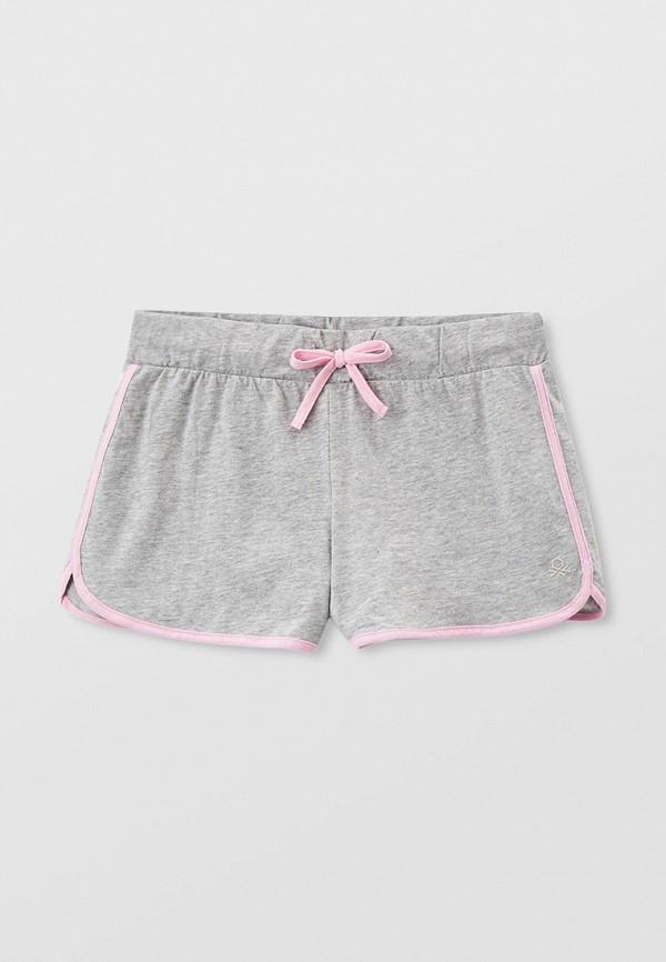 спортивные шорты united colors of benetton для девочки, серые