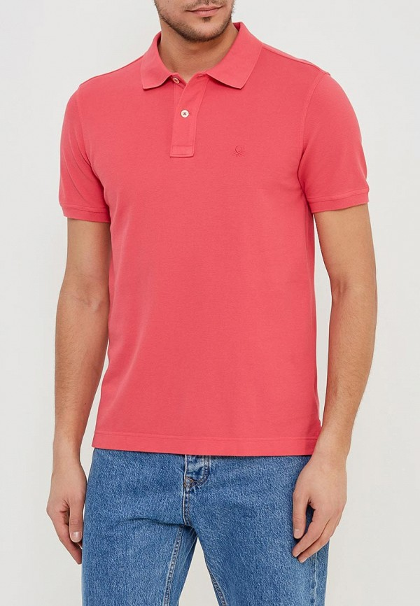 Фото - мужское поло United Colors of Benetton кораллового цвета