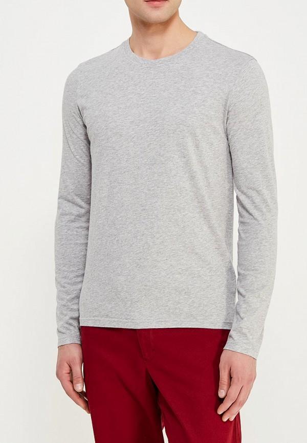 мужской лонгслив united colors of benetton, серый
