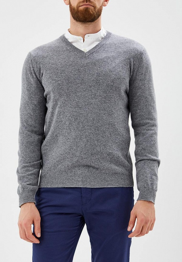 мужской пуловер united colors of benetton, серый