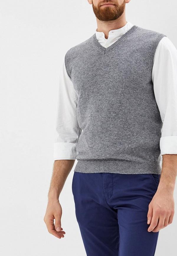 Мужской серый осенний жилет