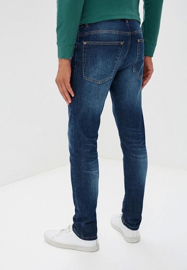 Фото 3 - мужские джинсы United Colors of Benetton синего цвета