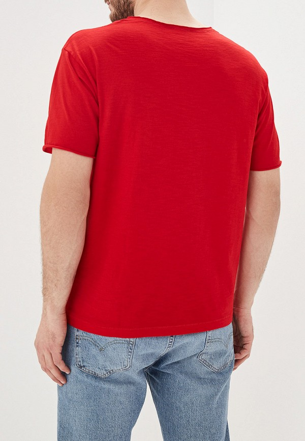 Фото 3 - мужскую футболку United Colors of Benetton красного цвета