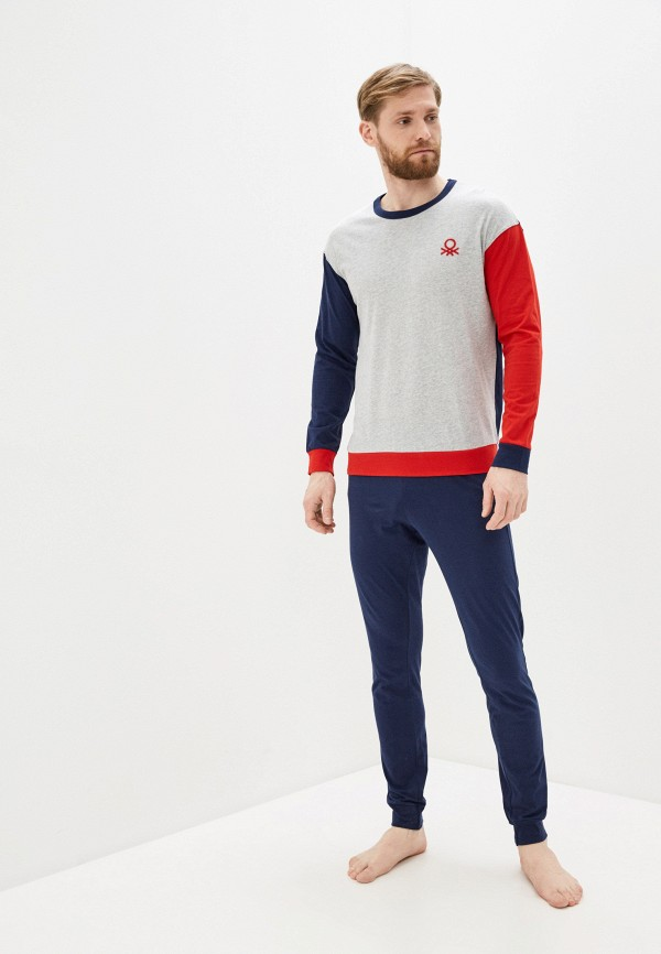 мужская пижама united colors of benetton, разноцветная