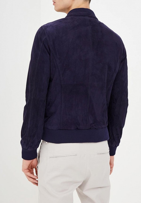Фото 3 - Куртку кожаная United Colors of Benetton синего цвета