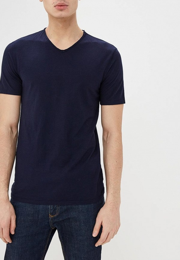 мужская футболка с коротким рукавом united colors of benetton, синяя