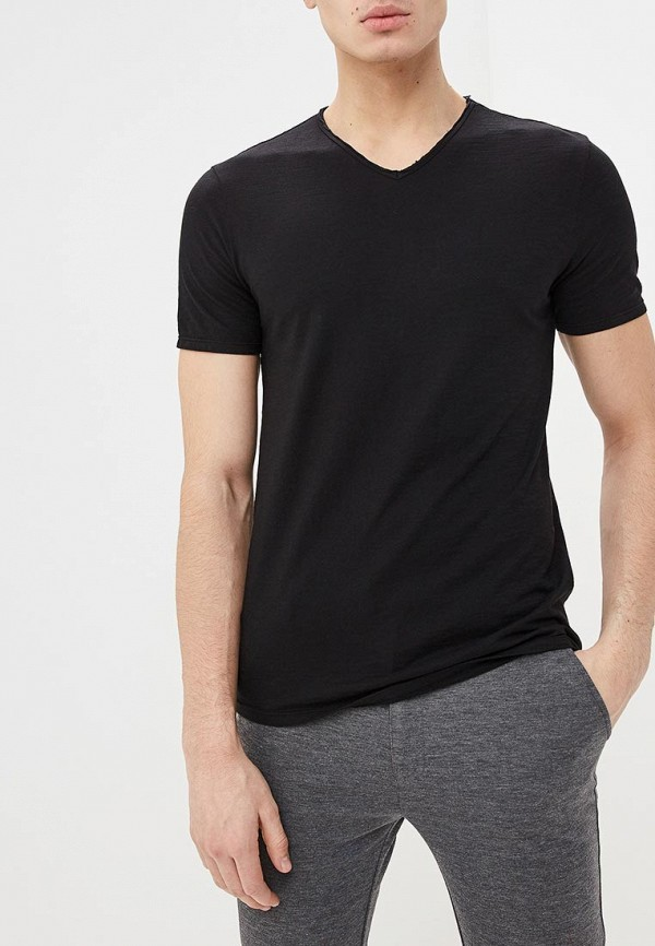 мужская футболка с коротким рукавом united colors of benetton, черная
