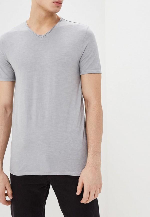мужская футболка с коротким рукавом united colors of benetton, серая